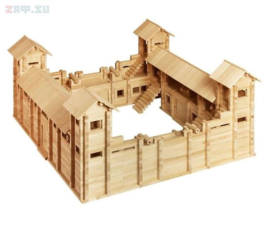 Изображение Конструктор из дерева «Крепость»