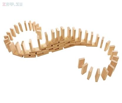 Изображение Конструктор из дерева «Эффект домино»