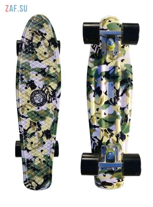 "Picture of Скейт Cruiser Board ""Street Hit"" Graphics Камуфляж с черными колесами"