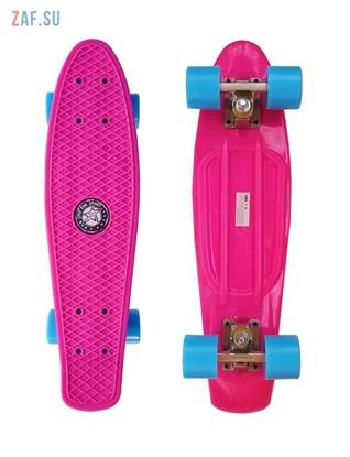 Picture of Скейт Cruiser Board Street Hit Classic Розовый с голубыми колесами