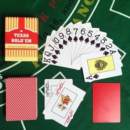 100% пластиковые игральные карты TEXAS HOLD'EM