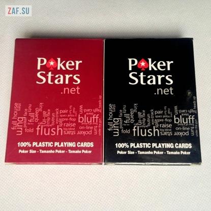 Игральные карты для покера POKER STARS, 100% пластиковые