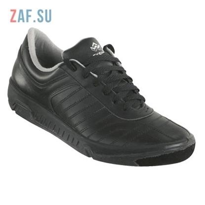 """Кроссовки EKSI'S """"CLASSIC 377"""" черные, кожа, (EKSIS-377)"""