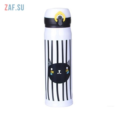 Изображение Термос Чёрный кот, 500 мл, арт. HS-6683
