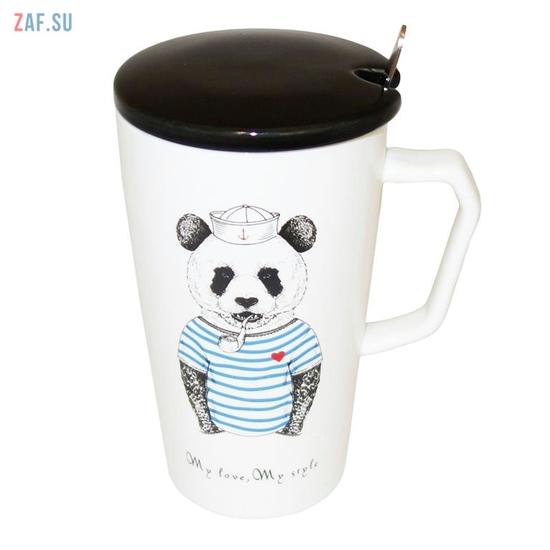 Изображение Керамическая кружка My love, My style Панда, 420 мл, арт. HD242