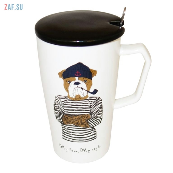 Изображение Керамическая кружка My love, My style Собака, 420 мл, арт. HD243