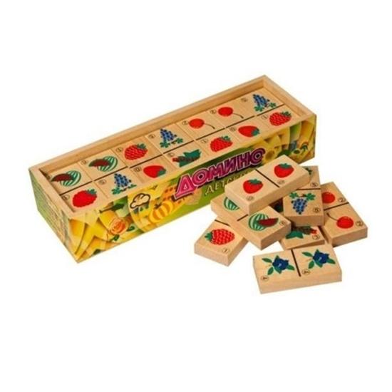 Деревянная развивающая игра Пелси «Домино детское, Ягоды»