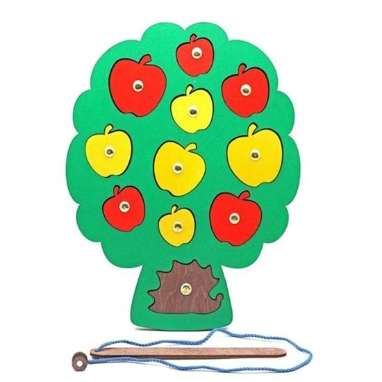 """Развивающие пособие из дерева Игра с магнитами """"Собираем урожай"""""""