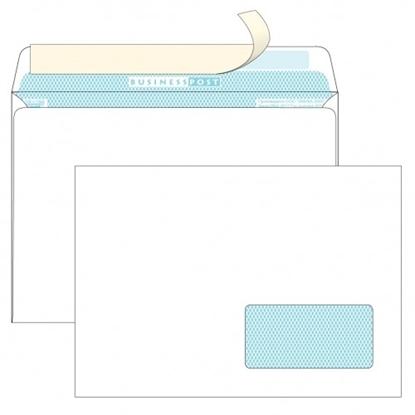 Почтовый конверт С5 БИЗНЕССПОСТ, со стрипом, правое окно (45×90 мм), 1000 шт.