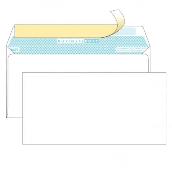 Почтовый конверт DL БИЗНЕССПОСТ, белый со стрипом, 1000 шт.