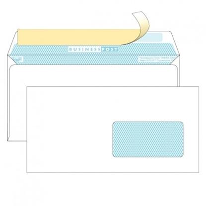 Почтовый конверт DL БИЗНЕССПОСТ, белый со стрипом, правое окно (45×90 мм), 1000 шт.