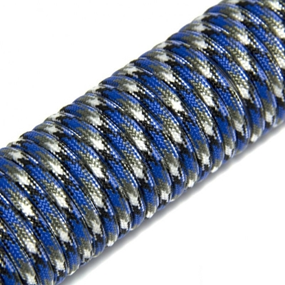 """Паракорд 550,  голубой камуфляж """"Blue camo"""" (4 мм), 30 метров"""