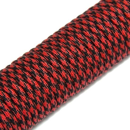 """Паракорд 550,  красный-черный камуфляж """"Red black camo"""" (4 мм), 30 метров"""