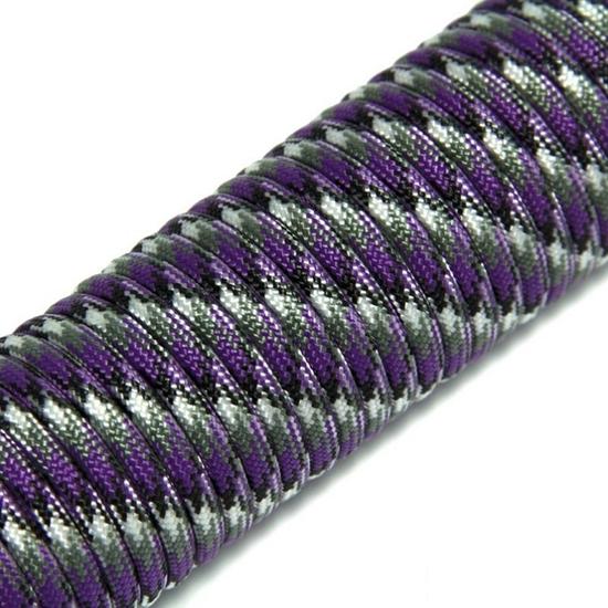 """Паракорд 550,  фиолетовый камуфляж """"Purple camo"""" (4 мм), 30 метров"""