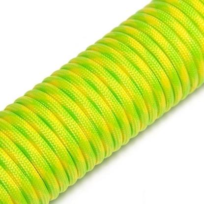 """Паракорд 550,  флуоресцентный желтый+зеленый камуфляж """"Fluor yellow + green"""" (4 мм), 30 метров"""