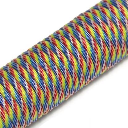 "Паракорд 550,  радужный цвет ""Rainbow"" (4 мм), 30 метров"