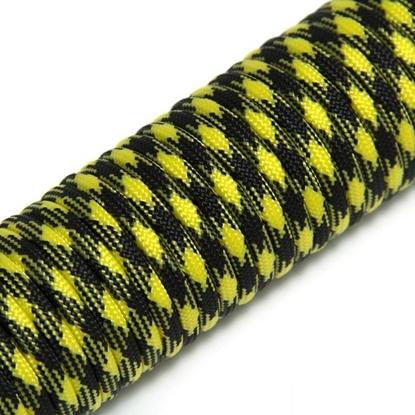 """Паракорд 550,  желто-черный """"Yellow+black"""" (4 мм), 30 метров"""