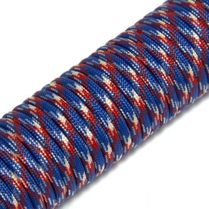 """Паракорд 550,  красный + синий + белый """"red + blue + white"""" (4 мм), 30 метров"""
