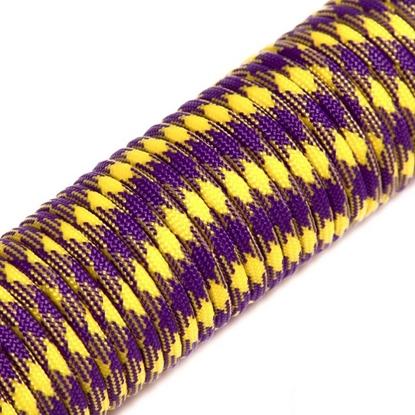 """Паракорд 550,  фиолетовый+желтый """"Purple+yellow"""" (4 мм), 30 метров"""