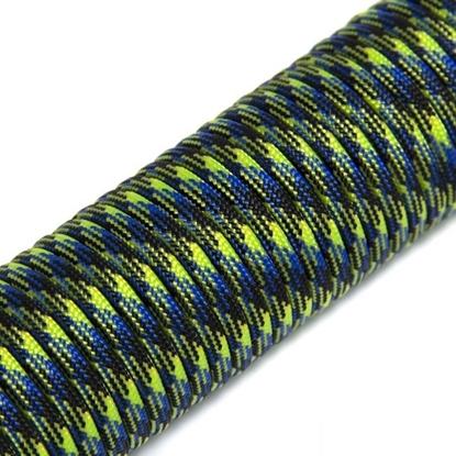 """Паракорд 550,  сине-зеленый камуфляж """"Blue green camo"""" (4 мм), 30 метров"""