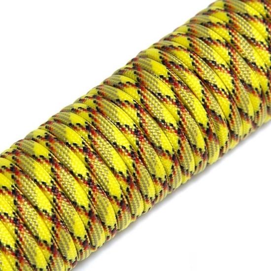 """Паракорд 550,  желтый камуфляж """"Yellow camo"""" (4 мм), 30 метров"""