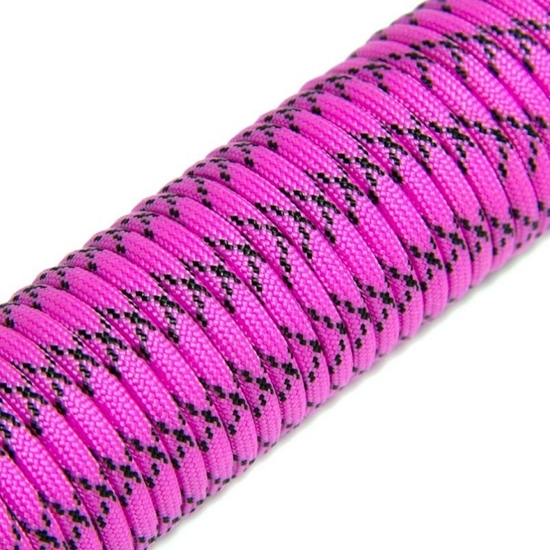 """Паракорд 550,  ярко розовый камуфляж """"Hot pink camo"""" (4 мм), 30 метров"""