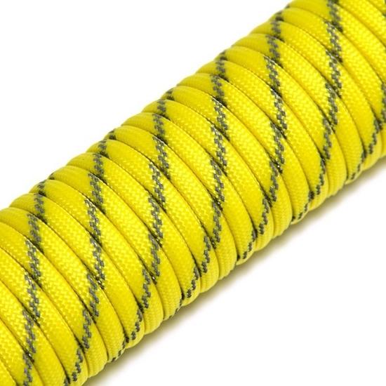 "Паракорд 550, серый+желтый ""Grey+yellow"" (4 мм), 30 метров"