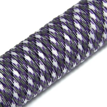 "Паракорд 550, фиолетовый+белый ""Purple+white"" (4 мм), 30 метров"