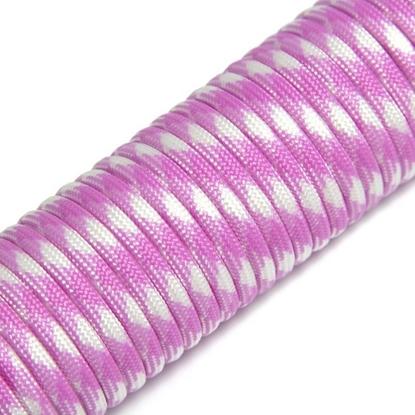 "Паракорд 550, розовый+белый ""Pink+white"" (4 мм), 30 метров"