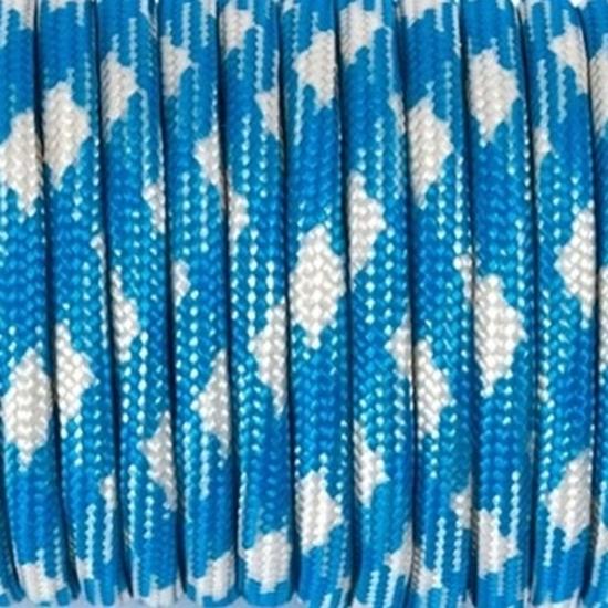 """Паракорд 550,  синий+белый """"Blue+white"""" (4 мм), 30 метров"""
