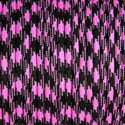 """Паракорд 550,  черно-розовый камуфляж """"Black pink camo"""" (4 мм), 30 метров"""