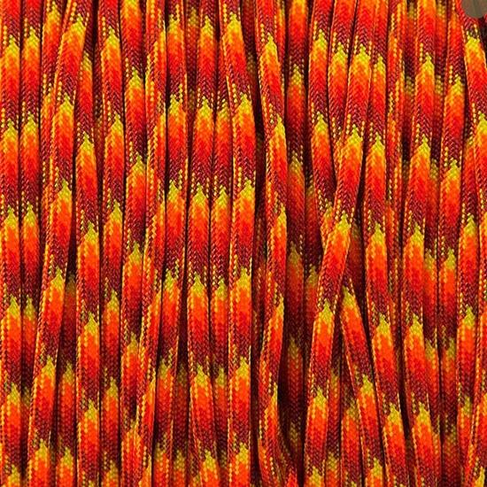 """Паракорд 550,  ярко-красный камуфляж """"Hot red camo"""" (4 мм), 30 метров9o0i"""