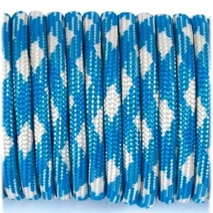 """Паракорд 550, белый+синий """"White+blue"""" (4 мм), 30 метров"""