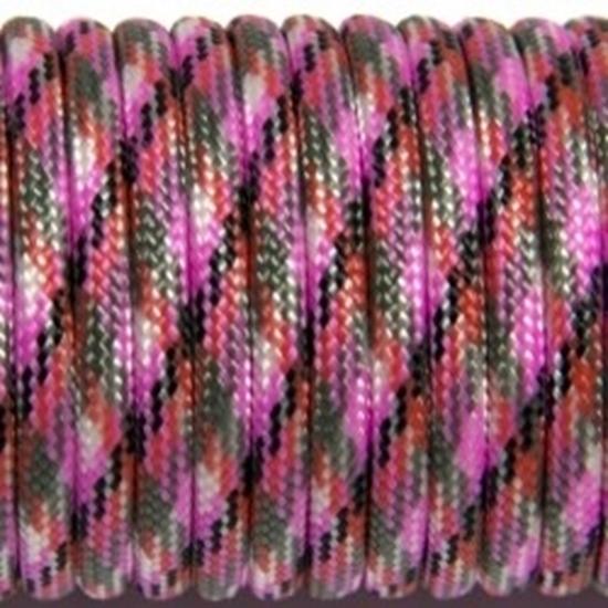 """Паракорд 550,  фиолетовый+сливовый """"Purple+plum"""" (4 мм), 30 метров"""