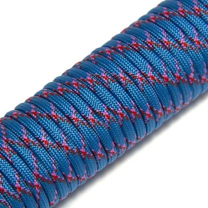 "Паракорд 550, небесно-голубой+сливовый ""Skyblue+plum"" (4 мм), 30 метров"