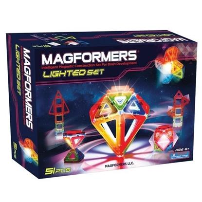 Магнитный конструктор Magformers Lighted set (51 дет)