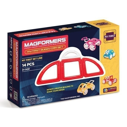 Магнитный конструктор Magformers My First Buggy Car Set - Red (14 дет)