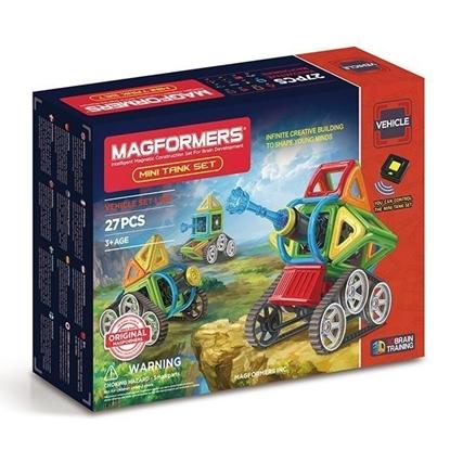 Магнитный конструктор Magformers Mini Tank Set (27 дет)
