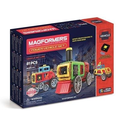 Магнитный конструктор Magformers Power Vehicle Set (81 дет)