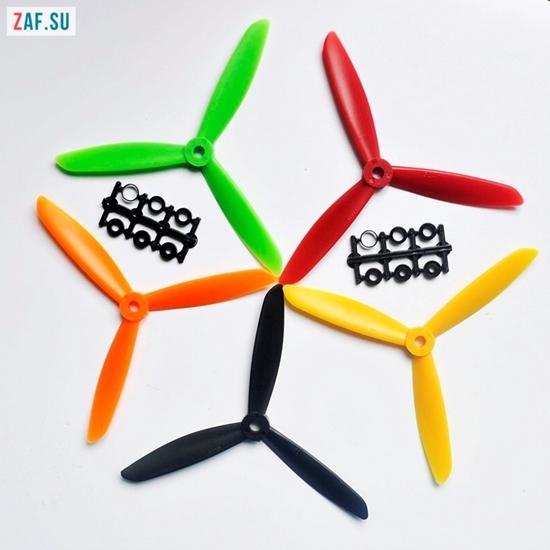 Пропеллер 6045 три лопасти (винт 60*45), пластик ABS, различные цвета