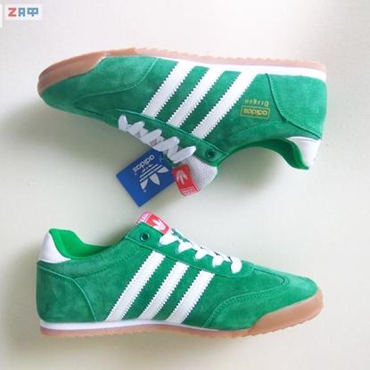 Изображение Мужские кроссовки Adidas DRAGON, зелёный/белый