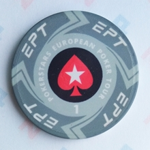 Picture of Ceramic EPT Poker Chips — PokerStars European Poker Tour — Value 1