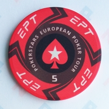 Picture of Ceramic EPT Poker Chips — PokerStars European Poker Tour — Value 5