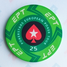 Picture of Ceramic EPT Poker Chips — PokerStars European Poker Tour — Value 25