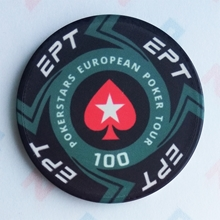 Picture of Ceramic EPT Poker Chips — PokerStars European Poker Tour — Value 100