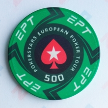 Picture of Ceramic EPT Poker Chips — PokerStars European Poker Tour — Value 500