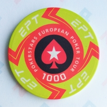 Picture of Ceramic EPT Poker Chips — PokerStars European Poker Tour — Value 1000