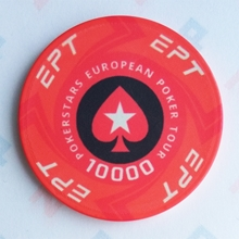Picture of Ceramic EPT Poker Chips — PokerStars European Poker Tour — Value 10000