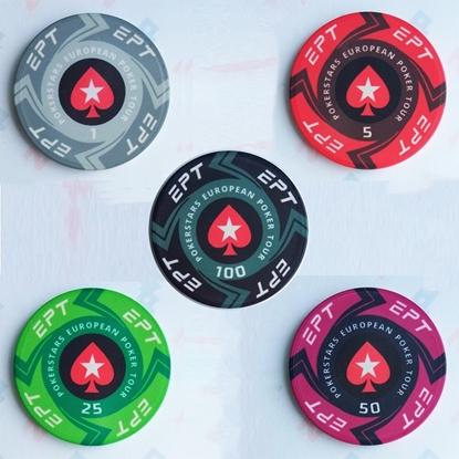 Покерный набор: 200 керамических фишек EPT (без кейса)