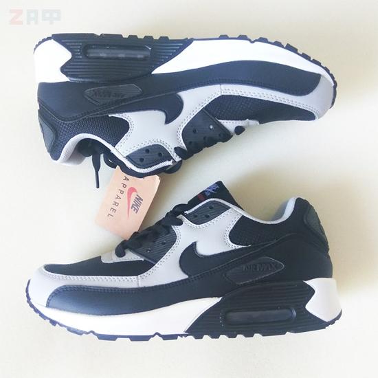 Мужские кроссовки Nike Air Max, чёрный-белый (реплика)